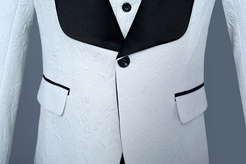 Classic Men Prom Suits 3 Piece Men White Suit Prom Tuxedos Mens ...