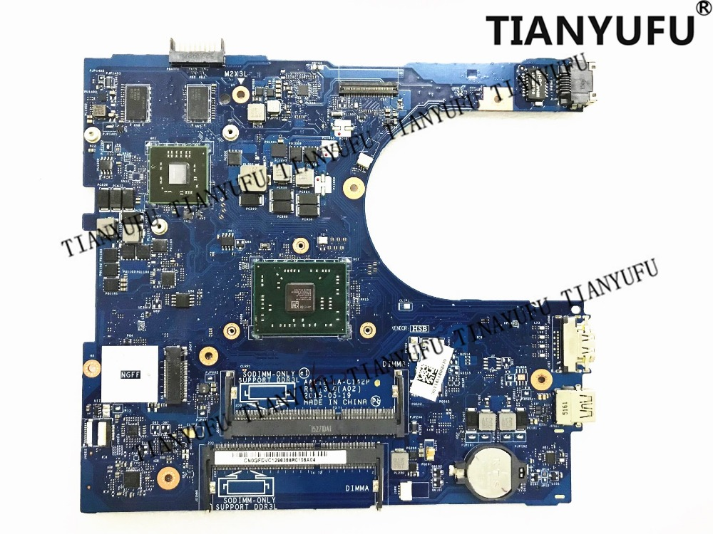 For Dell Inspiron 5555 5455 Laptop motherboard AAL12 LA C142P REV:3.0 with A8 7410 CPU (FOR AMD CPU)  Mainboard tested 100% work-in Motherboards from Computer & Office    1