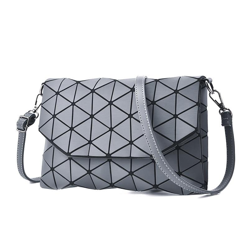 Geometric Matte Crossbody Bags Designer For Women 2019 Satin Finished Surface Makeup Messenger Bags Elegant Stylish Bags