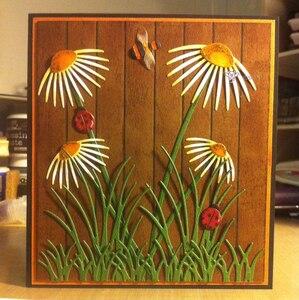 Image 4 - Matrices de découpe en métal artisanal, moule de découpe, 8 pièces décoration florale, Scrapbook, papier artisanal couteau, moule de lame, pochoirs