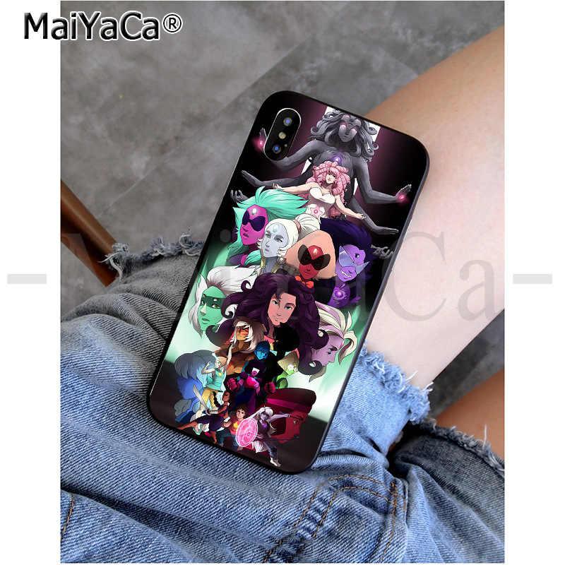 MaiYaCa steven universo vida real Doodle cristal gema DIY impresión teléfono funda para iPhone 8 7 6 6S Plus 5 5S SE XR X XS X MAX