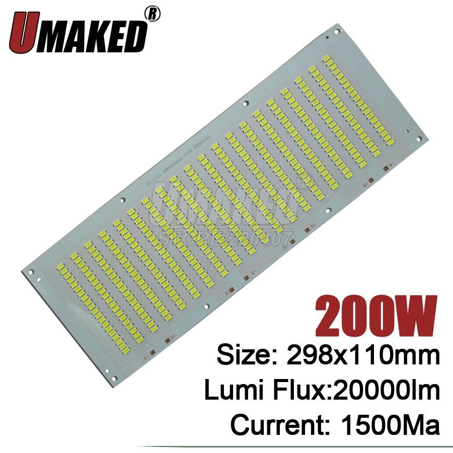 100% Full Power LED Holofote 200 W PCB SMD5730, 298x110mm led placa PCB, branco morno/branco iluminação sourcefor levou holofote