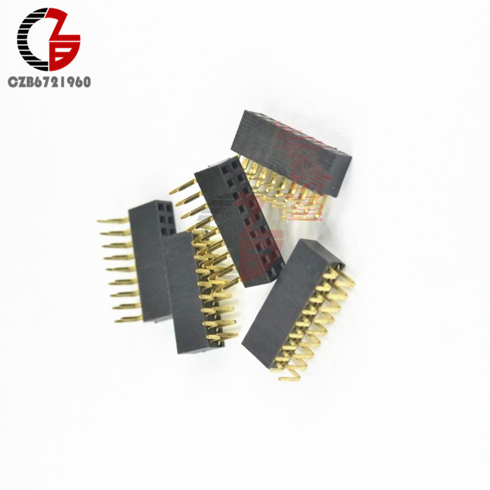 20PCS Pitch 2x9Pin Header Right Angle Female Double Row Socket Connector 2.54mm