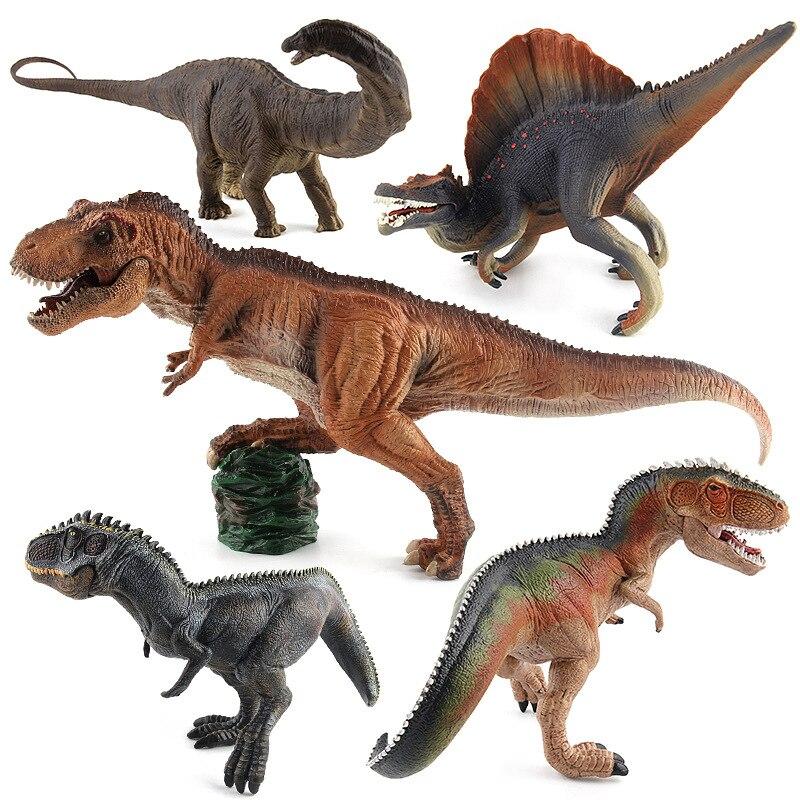Jurassic Dinosaur Action and Figures Apatosaurus Spinosaurus Giganotosaurus  Plastic Static Dinosaur Toy Model bwl 01 tyrannosaurus dinosaur skeleton model excavation archaeology toy kit white