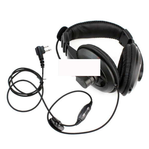 2pin Over Head Headset/Earpiece Boom Mic Headphone Earphone For Motorola 2/Two Way Radio XV1100 XV2100 XV2600 XU1100 XU2100/2600