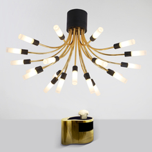 Buy acrylic lamp shade and get free shipping on aliexpress nordic simple design flower type luxury golden restaurant modern acrylic lamp shade can be washed ceiling mozeypictures Image collections