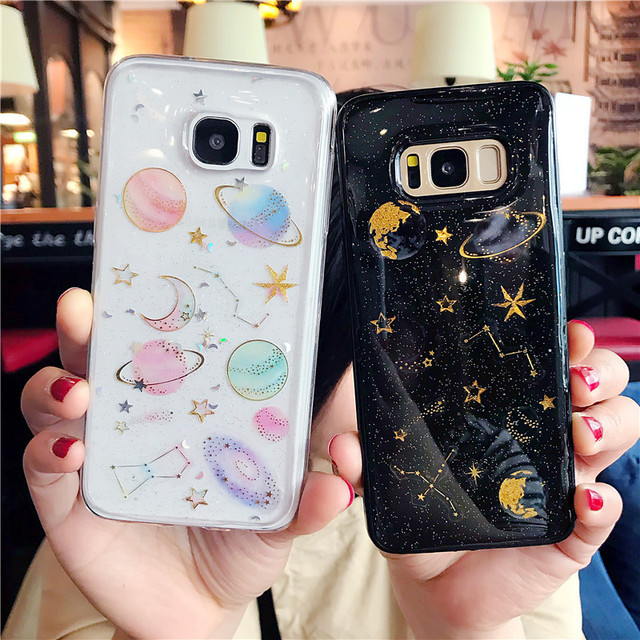 premium selection b2abb a49b1 Luxury Glitter Space Planet Stars Phone Case for Samsung Galaxy S7 ...