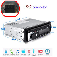 New 12V Car Radio Bluetooth Stereo Bluetooth FM Radio MP3 Audio Player USB SD MMC Port