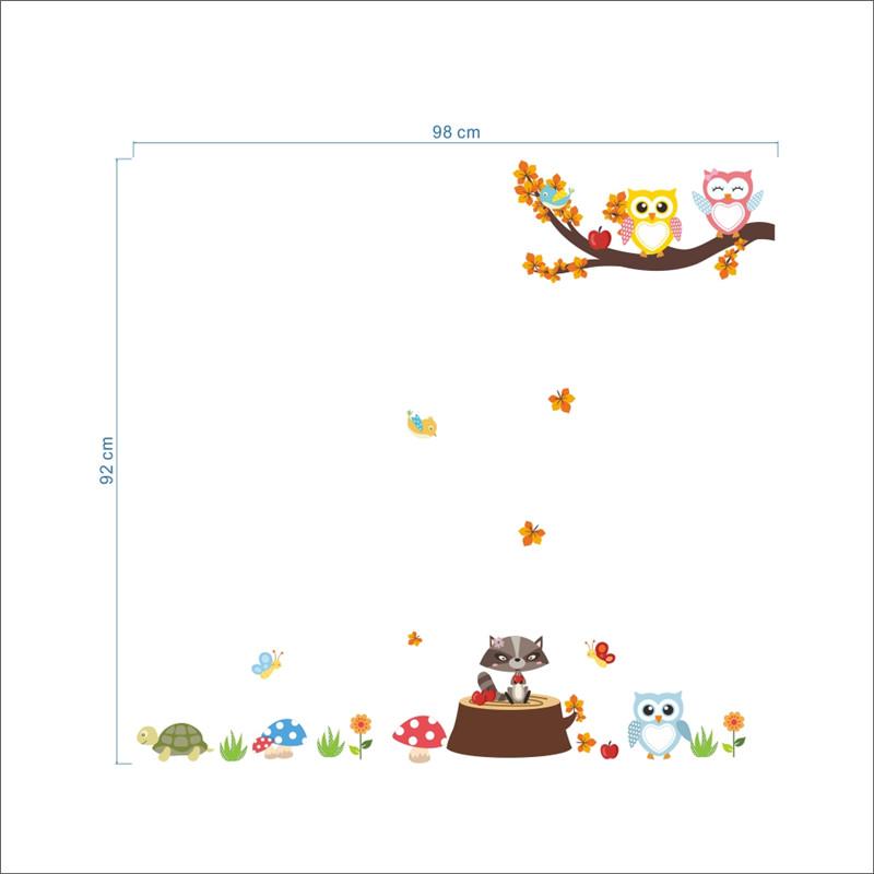 HTB1 .EePpXXXXXqXFXXq6xXFXXXE - Jungle Forest Tree Animal Owl Monkey Bear Deer Wall Stickers For Kids Room