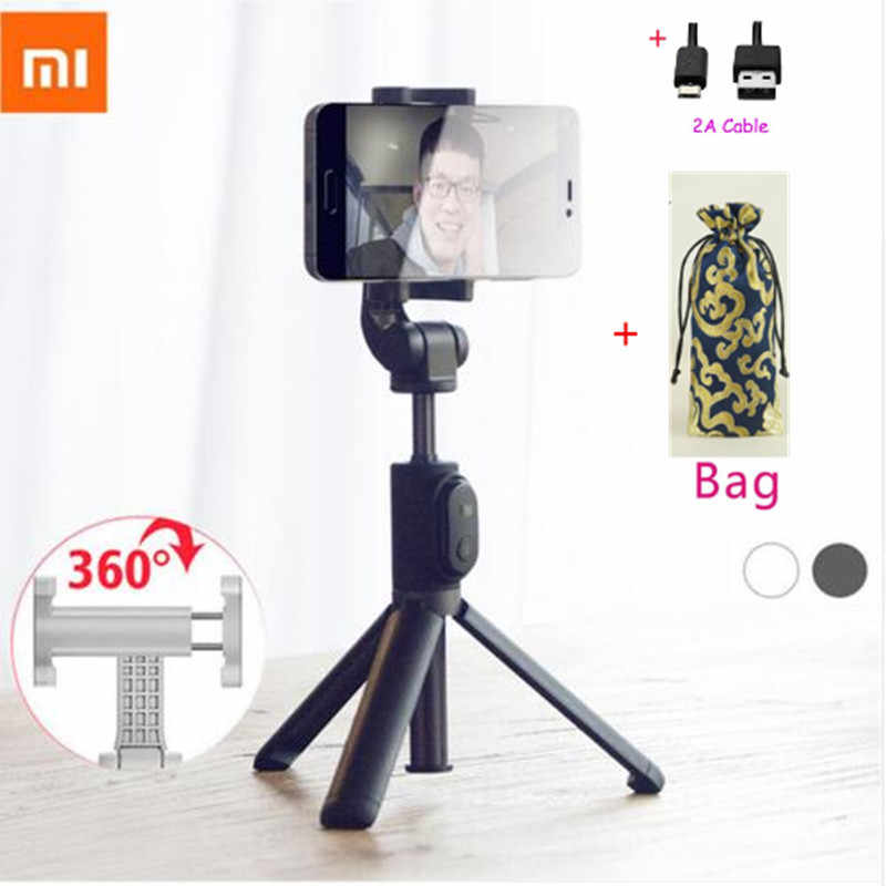 Terbaru Xiao Mi Monopod Mi Selfie Stick Bluetooth Tripod dengan Wireless Remote 360 Rotasi Flexiable/Kabel Versi Android IOS d5