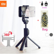 Terbaru Xiao Mi Monopod Mi Selfie Stick Bluetooth Tripod dengan Wireless Remote 360 Rotasi Flexiable/Kabel Versi Android IOS d5(China)
