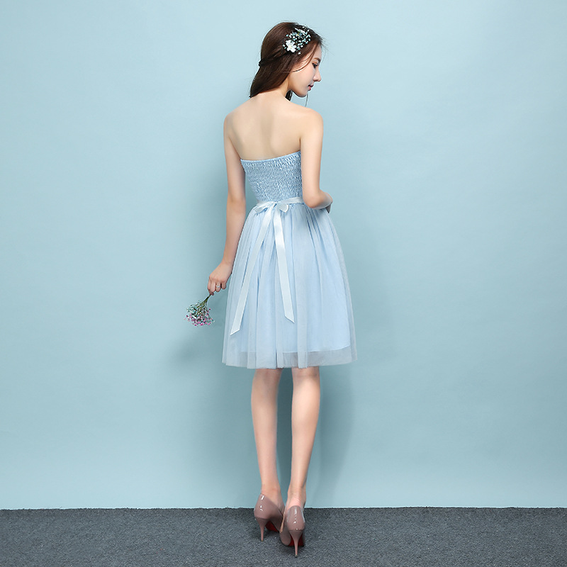2018 Popodion sky blue color bridesmaid dresses sister wedding party ... 34685818d394