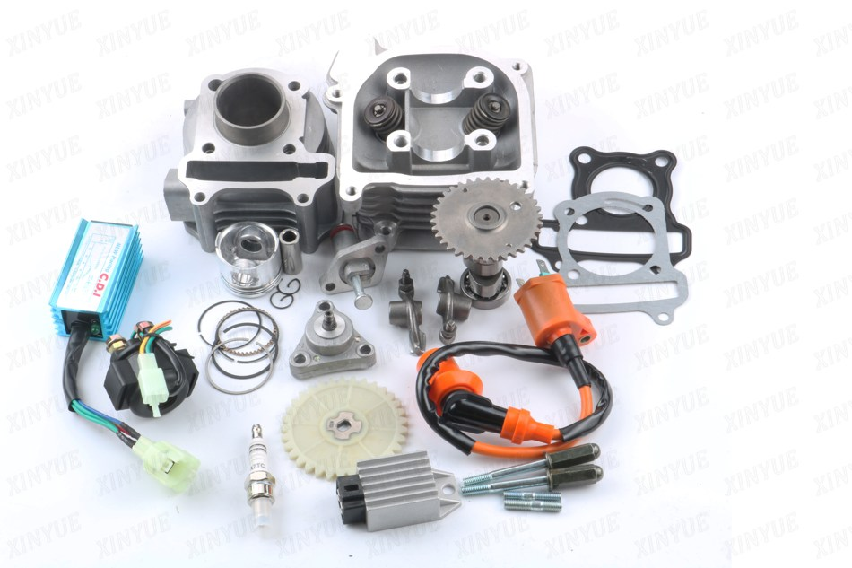 39mm Cylinder Assembly + Cylinder Head Performance Kit GY6 50cc 139QMB Chinese Scooter 38mm cylinder barrel piston kit