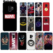 Babaite Marvel Superhero Avengers Capitão América Escudo Do Telefone Popular Capa Para GALAXY s5 s6 s9 s8 s7 borda plus plus borda s10(China)