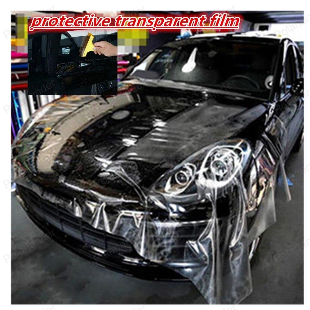 152 см * 20 см прозрачный сильный клей ручка двери автомобиля защитная пленка внешние автомобильные аксессуары легко установить