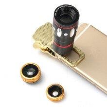 10X Zoom Clip On Mobile Phone Optical Camera Lens Telephoto Telescope Universal Durable Mobile Phone Camera Lens Black Gold