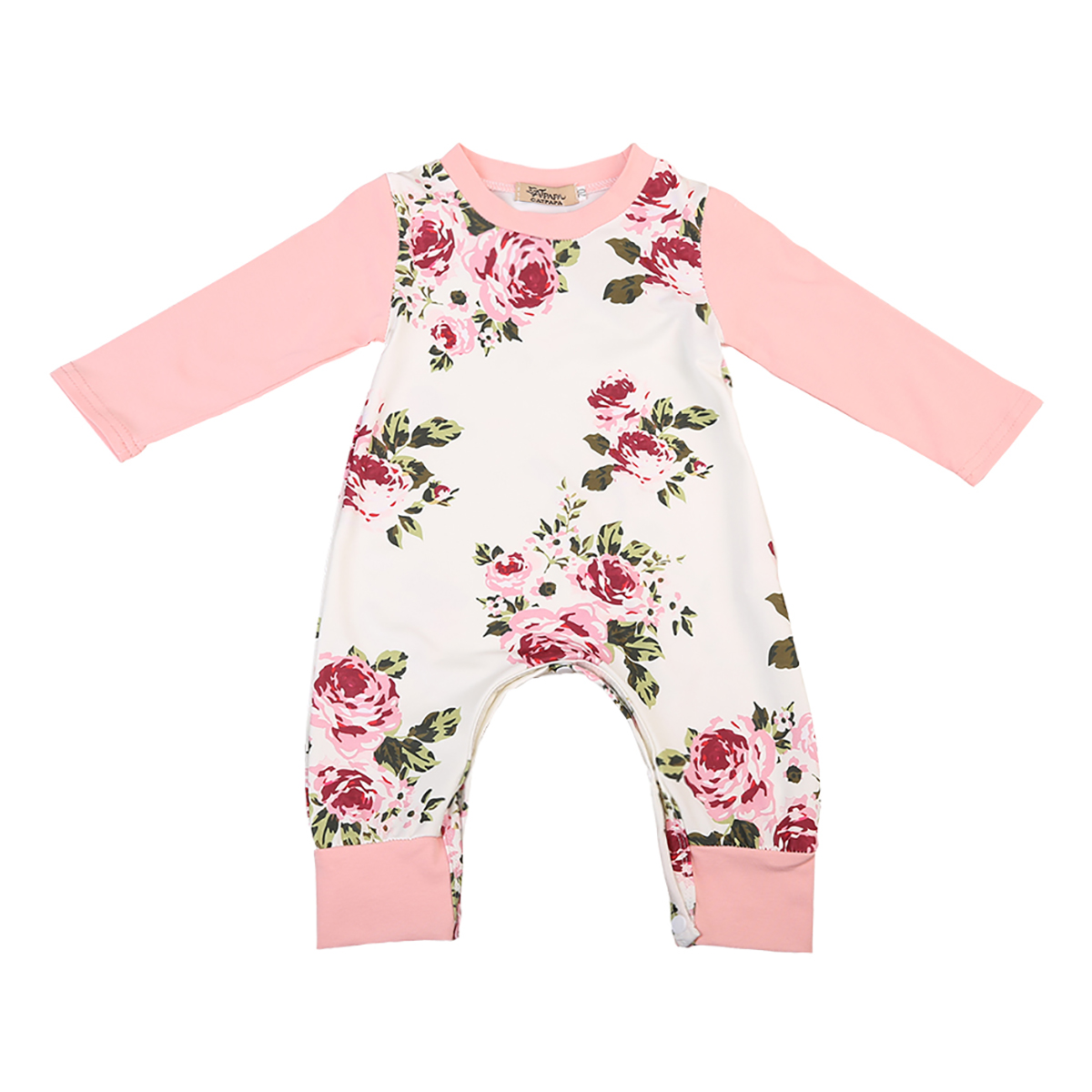 2017 Newborn Kids Infant Baby Girls Long Sleeve Floral Printed Romper Jumpsuit Clothes Cute Casual Long Baby Romper