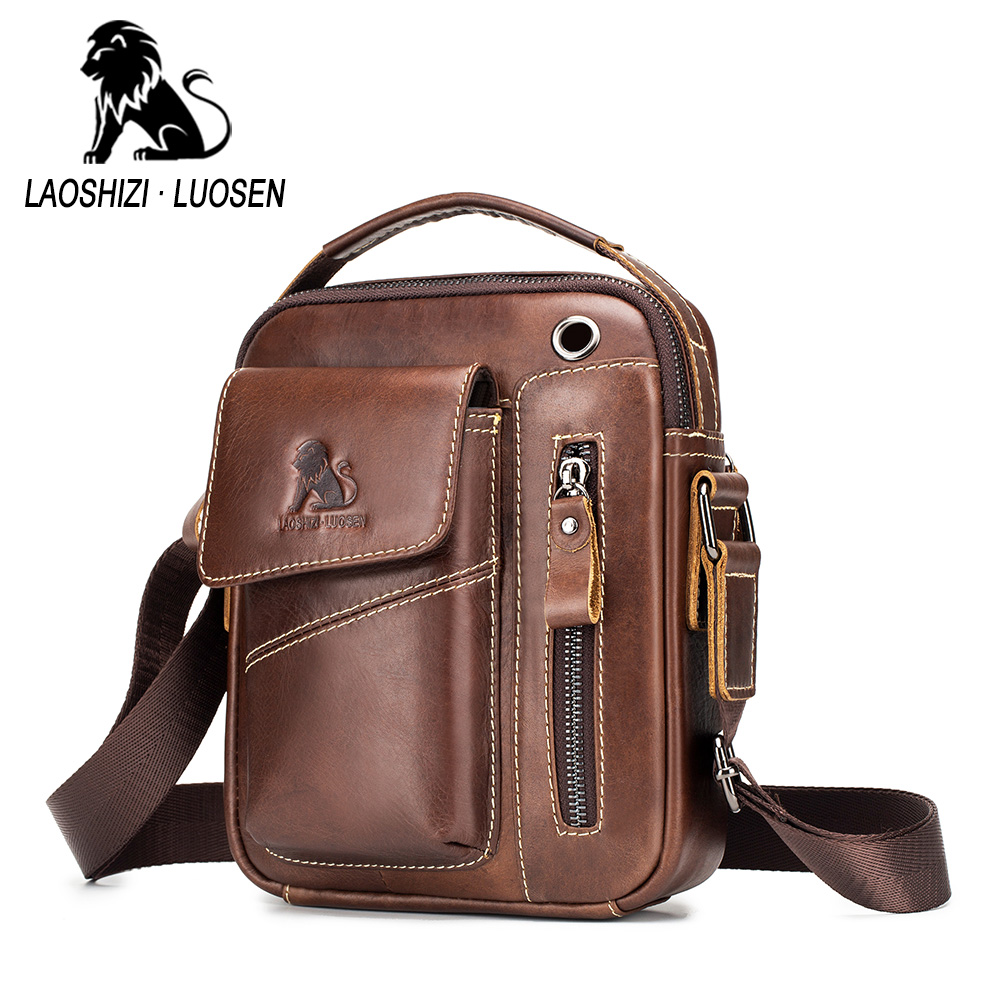 CA Men Crossbody Bags Small Casual Hand Bag PU Leather Male Shoulder Bags Tote
