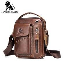 Новая мужская сумка мессенджер из натуральной кожи, винтажная маленькая сумка через плечо из коровьей кожи для мужчин, Повседневная Сумка тоут