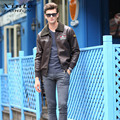 Men Leather Jacket Warm Winter Suede Leather Faux Lambswool Liner Outwear Embroidery High Quality Turn-down Collar