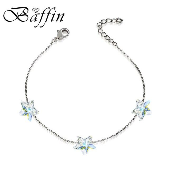 BAFFIN простые звезды бусы со стразами цепи браслеты кристаллы от SWAROVSKI ручной работы узлы браслет на удачу серебряные цвета ювелирные изделия