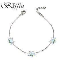 657f892e3d2e BAFFIN Simple estrellas cuentas pulseras de cadena de cristales de SWAROVSKI  hecho a mano nudos de