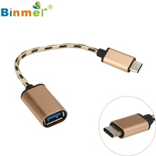 Adapter 2017 Binmer USB 3.1 Type-C USB-C OTG Cable USB3.1 Male to USB2.0 Type-A Female Adapter Cord may17 #1#3