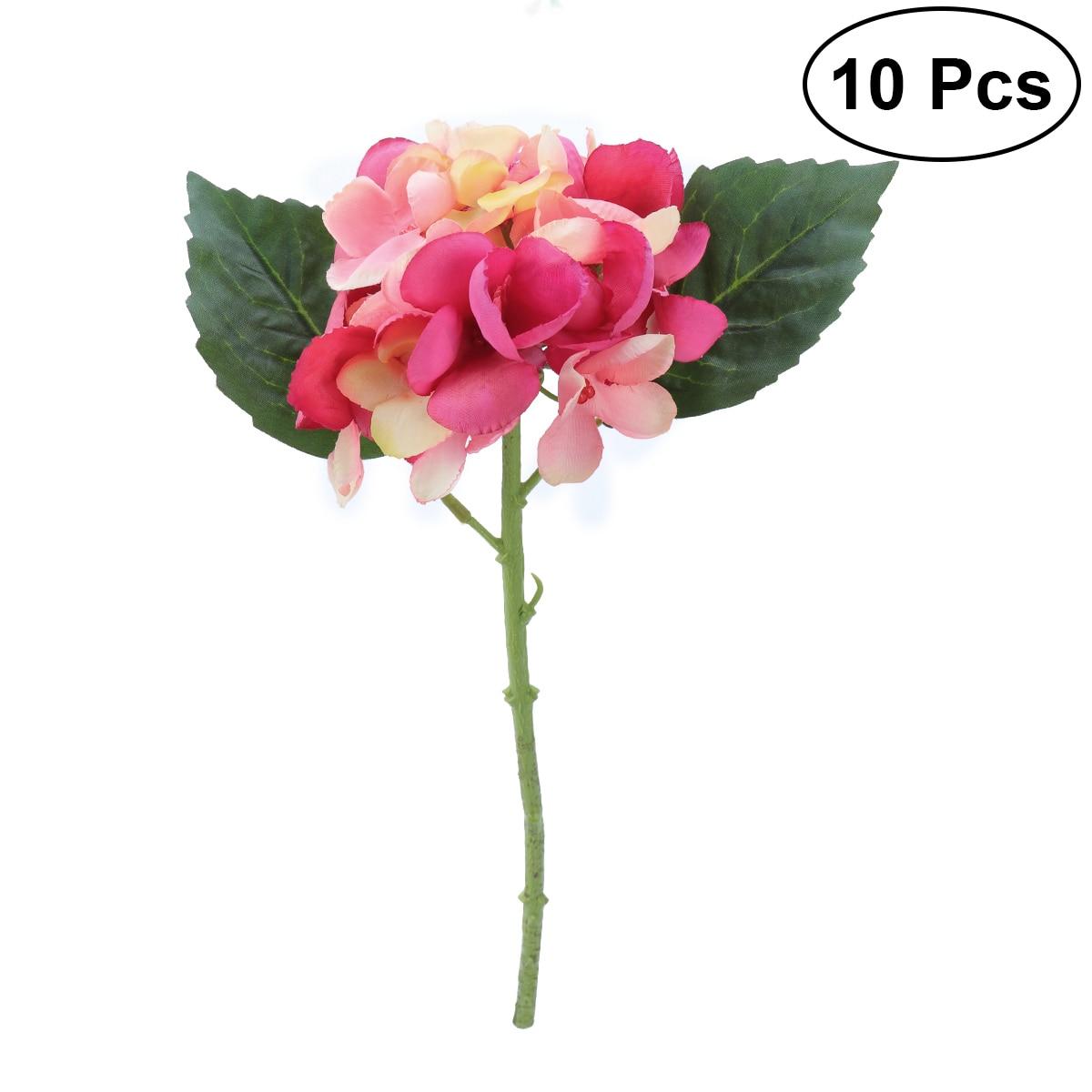 10 Pcs Flower Bunches Bouquet Artificial Silk Single Stem Fake