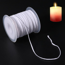 61m Environmental Spool of Cotton Braid Candle Wick Core For Birthday Candles Non-smoke DIY Oil Lamps Candle Making Supplies