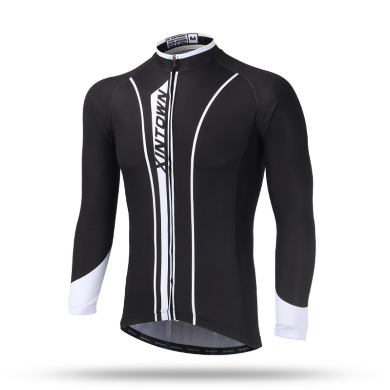XINTOWN Men Winter Fleece Cycling Jacket Bike Racing Winter Fleece Cycling Jackets Windproof Cycling Clothes Ciclismo Jersey santic sky cycling small raincoat windproof light jacket long sleeve cycling jersey men bike ropa ciclismo jacket m5c07014h