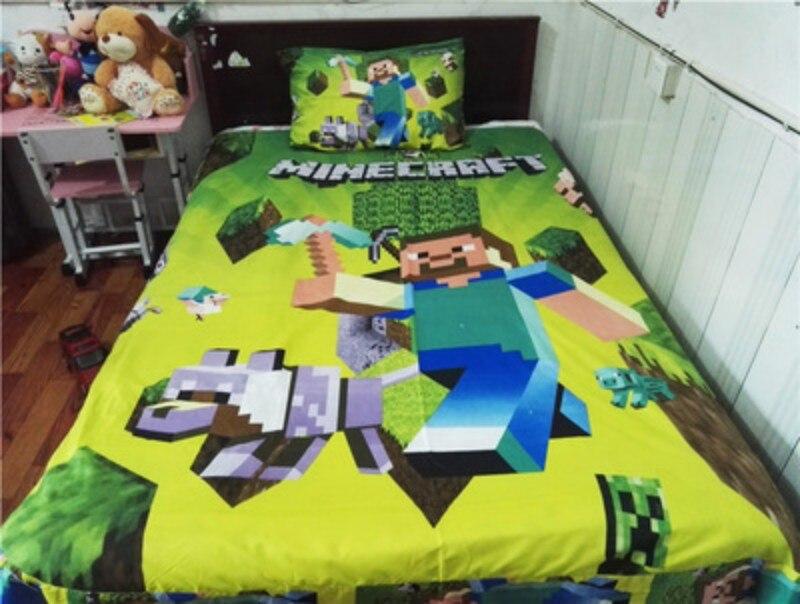 Tanie Bawełna Dzieci Powłoczki Twin Minecraft M Oacutej