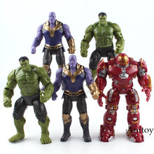 Marvel The Avengers Figure Super Heroes Iron Man Hulk Thanos Flashing Light in Chest PVC Action Figures Toys for Boy Hulkbuster(China)