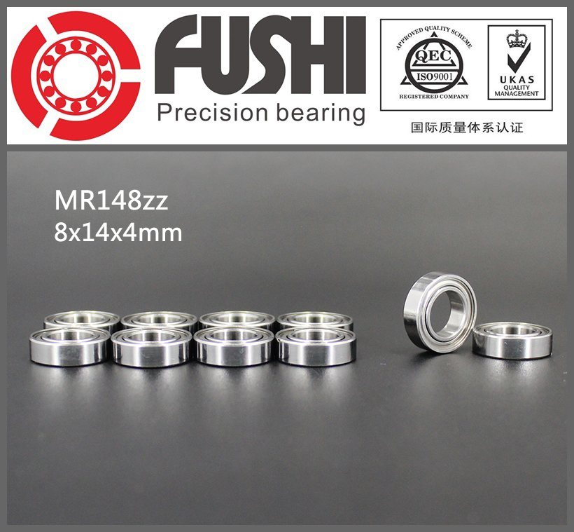 MR148ZZ Bearing ABEC-1 (10PCS) 8*14*4 mm Miniature MR148-2Z Ball Bearings MR148 ZZ L-1480ZZ MR148Z 6903zz bearing abec 1 10pcs 17x30x7 mm thin section 6903 zz ball bearings 6903z 61903 z