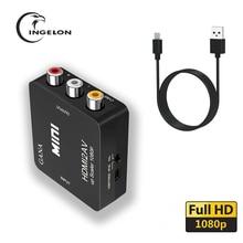HDMI2av AV スケーラーコンバーターアダプタ HD ビデオコンバータボックスの Hdmi rca av vga AV/CVSB L/ R ビデオ 1080 1080P av2hdmi