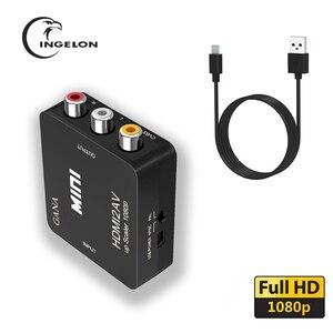 HDMI2av PARA AV Scaler Adaptador HD Video Converter Box HDMI para av RCA para vga AV/CVSB L/ R Vídeo 1080P av2hdmi