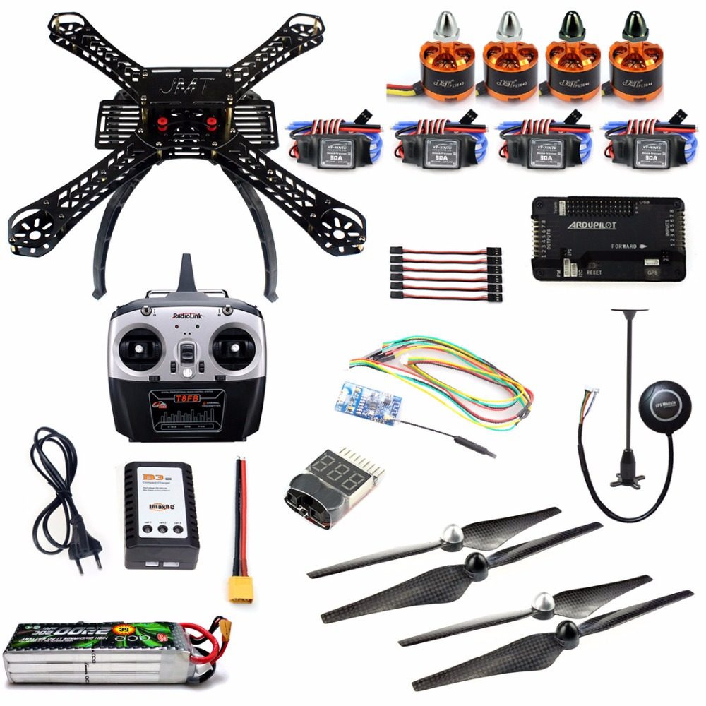 DIY Kit 2.4GHz 4Axis RC Quadcopter with APM 2.8 M7N GPS T8FB RX Wireless WiFi Transmission Atitude Hold One Key Return Drone no 14 925 diy fb 4