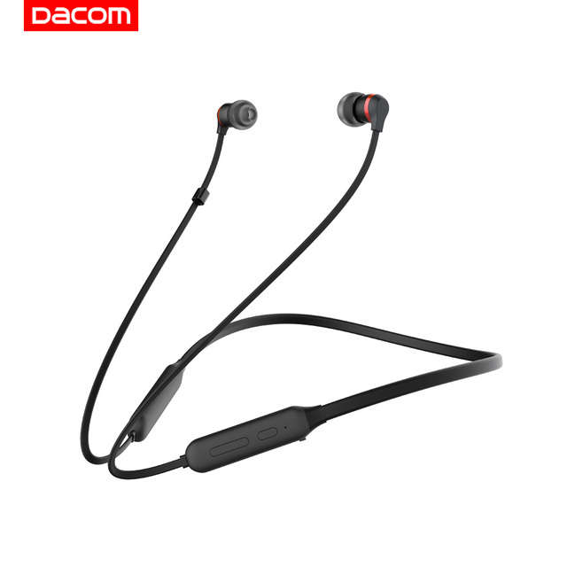 Dacom L06 Recreation Wireless Bluetooth Earphone Stereo in Ear Headphones Graphene Arresting Headset Neckband with Handsfree for Phone.