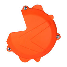 Motorcycle Motorbike Orange Left Clutch Case Cover Guard Protector For KTM 250 300 EXC SX XC XC-W FREERIDE 2013-16 engine clutch case cover guard for ktm 250 exc sx xc xc w fpeeride 350 exc xc xc w motorcycle accessories left protector