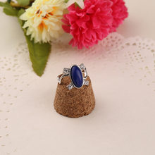 vintage jewelry the blue crystal opal anti-sun daylight ring movie film ring for women jewelry(China)