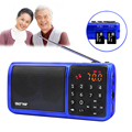 Portable FM Radio Support USB TF Card Rechargeable Mini MP3 Music Player with Stereo Loudspeaker Digital display