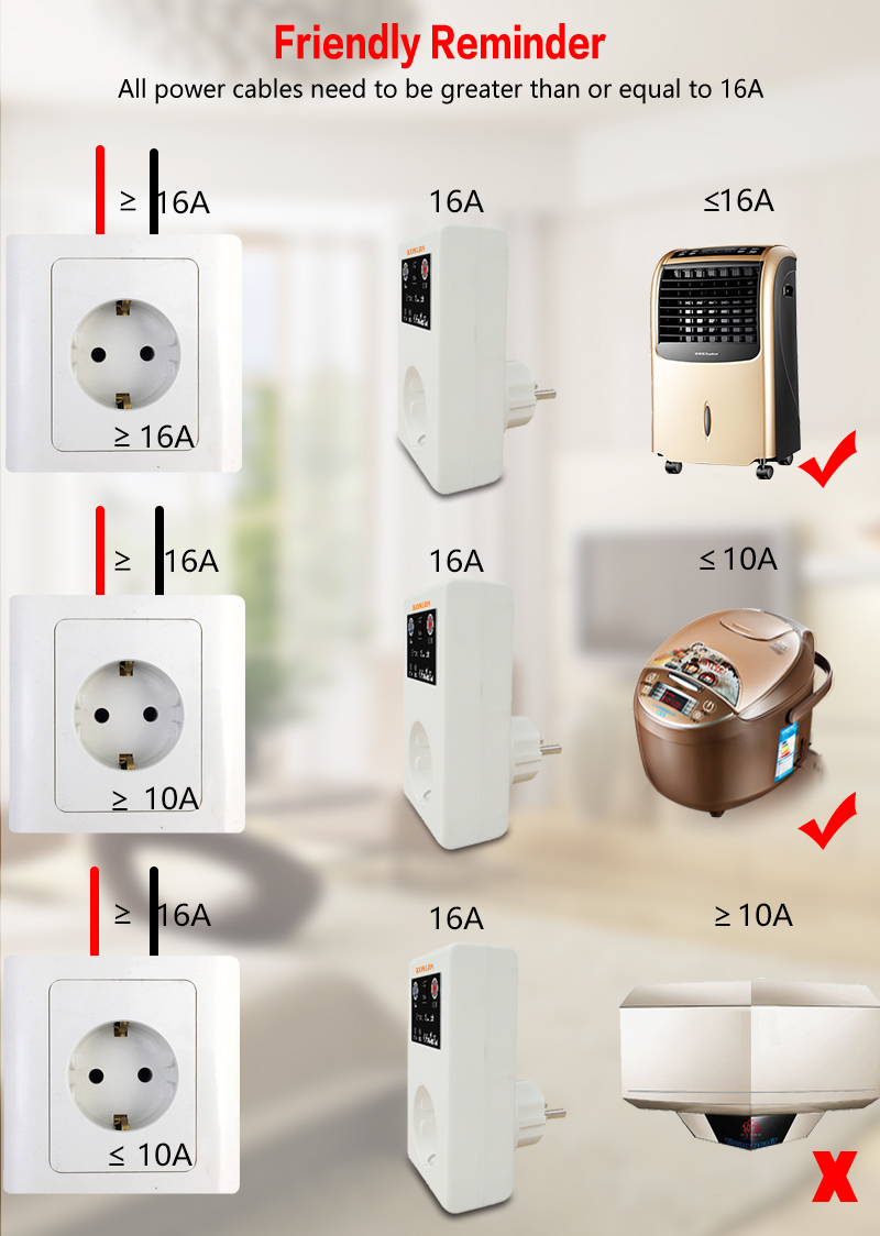 KONLEN 16A Power Socket Instruction