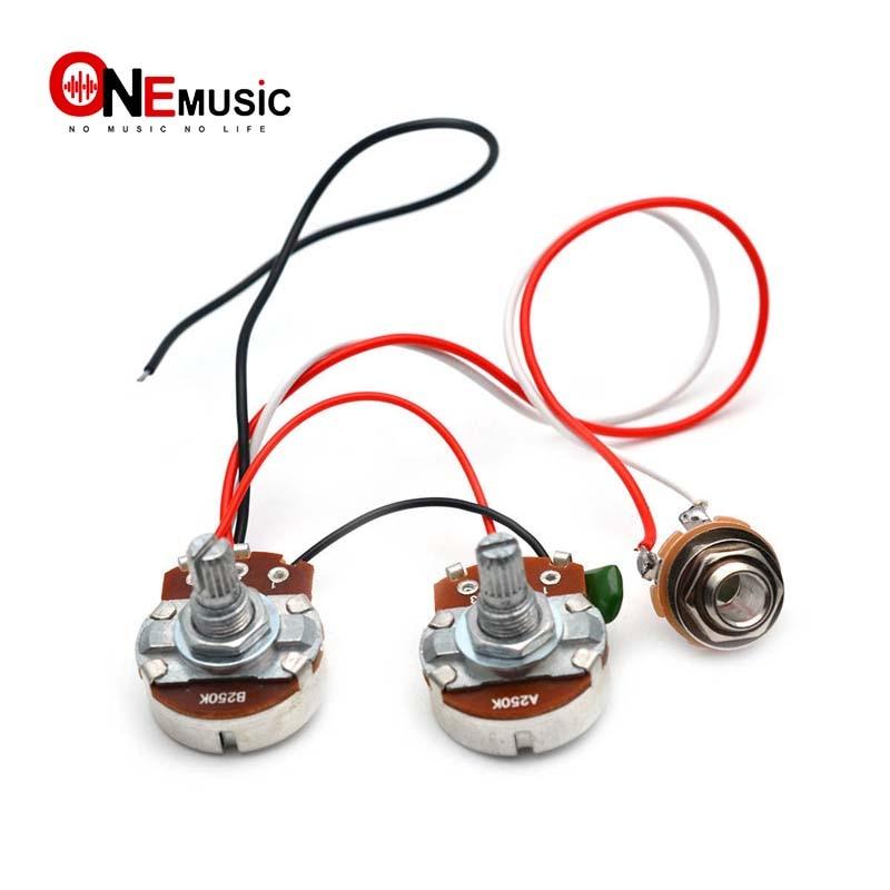 PB Bass Wiring Harness Prewired Kit for Precision Bass Guitar 250K Big Pots  1 Volume 1 Tone Jack|Guitar Parts & Accessories| - AliExpress | Bass Guitar Wiring Harness |  | AliExpress