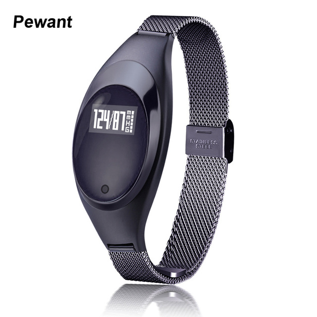 2017 Best Women Girl Gift Smart Band Blood Pressure Heart Rate Monitor Pedometer Smart Bracelet Diamond Shape Band PK miband 2