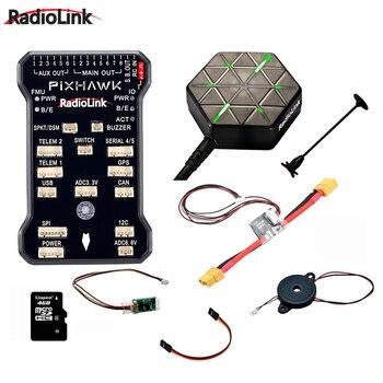Radiolink Pixhawk PIX APM Contrôleur de Vol Combo avec Support GPS M8N GPS Buzzer 4G SD Carte Télémétrie Module De Montage mousse