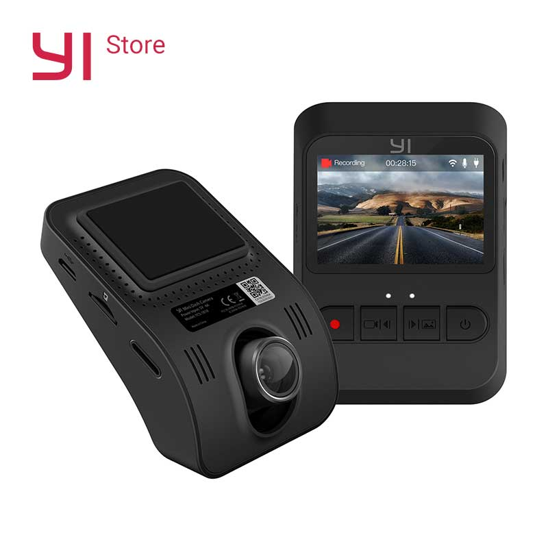 YI Mini Dash Kamera 1080 p HD Video WiFi Eingebaute Große Blende Internationalen Version Schwarz