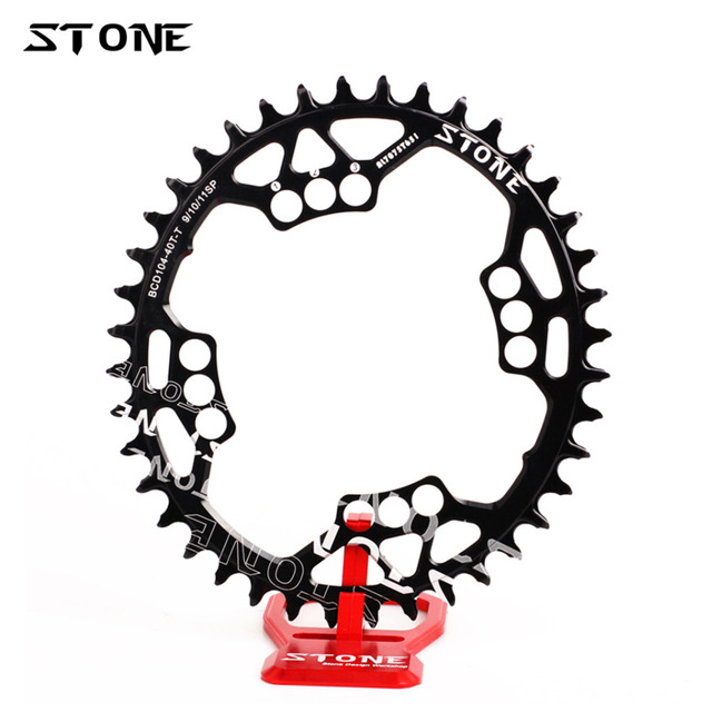 US $37 99 5% OFF|Stone Oval Single Chainring BCD 104mm Narrow Wide Teeth  MTB Bike Chain Ring Bolts For M780 M785 XO X9 X7 Chainwheel Bike Parts-in