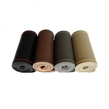Car Styling Micro Fiber Leather DIY 39 40cm Car Steering Wheel Covers With Needle And Thread