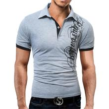 Men's Black Stylish Fashion Casual Breathable Polo T-shirt