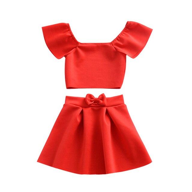 KAVKAS Newborn Kids Baby Girls Clothes Short Sleeve Cotton