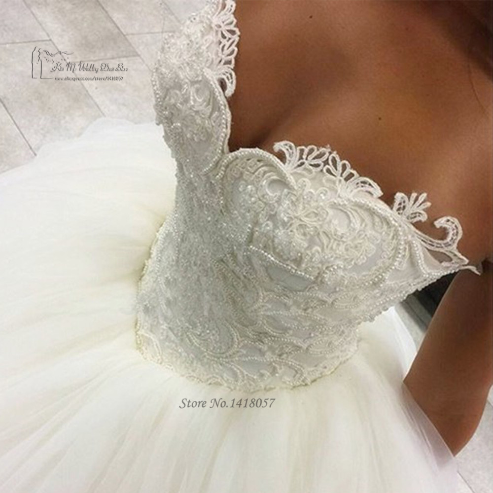 ᐊvestido De Noiva Longo Luxury Ball Suknia Suknie ślubne Koronki